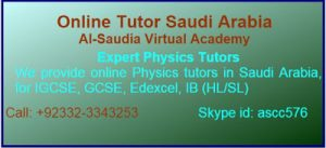 Online Physics Tutors Saudi Arabia