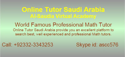 Online Math Tuition, Tutors Saudi Arabia