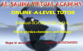 Online A Level Tutor Pakistan