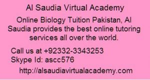 Online Biology Tuition Pakistan