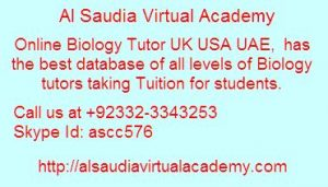 Online Biology Tutor UK USA UAE