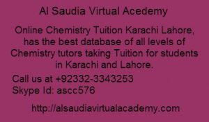 Online Chemistry Tuition Australia