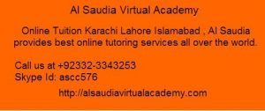 Online Tutors A Level Pakistan